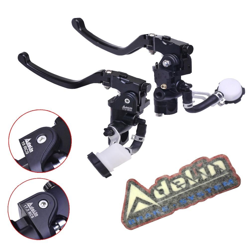 купить Adelin PX7 Motorbike 17.5RCS 19RCS Brake Master Cylinder Hydraulic Cluth FOR R1 R6 FZ6 GSXR600 750 1000 NINJA250 ZX-6R Z750 Z800 по цене 4759.83 рублей