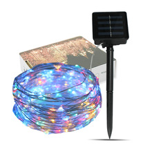 Christmas Light Post 10m 100LED Festival Decoration Solar Energy