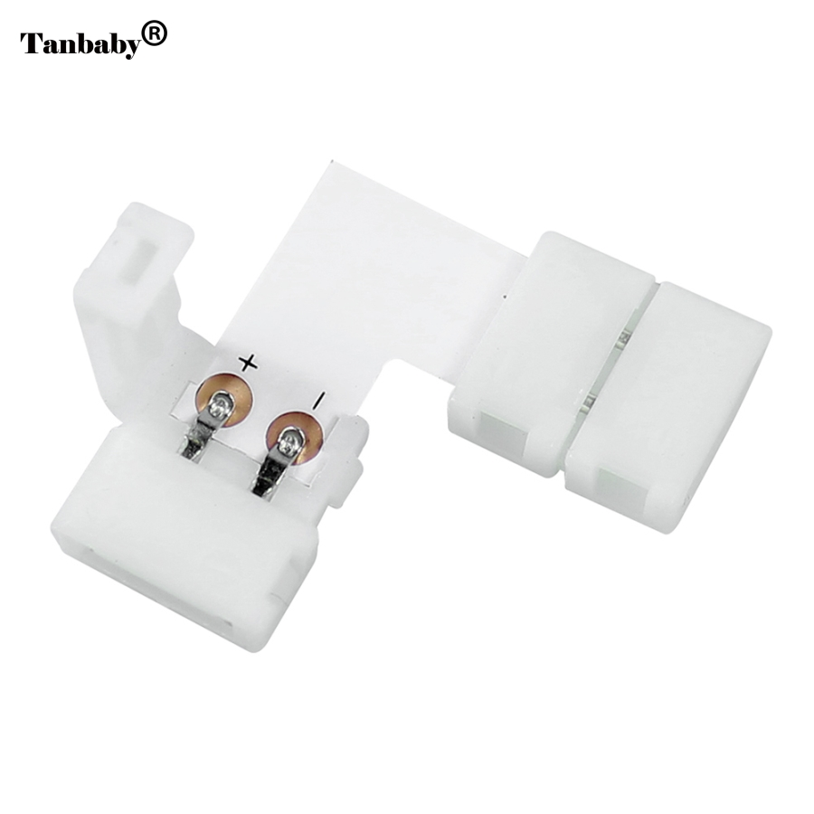 Tanbaby 5 Pcs/lot,10mm 2pin L Shape Quick Splitter Right Angle Corner Connector for 5050/5630/5730 Single Color LED Strip xr e2530sa color wheel 5 color beam splitter used disassemble