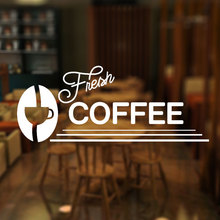 Fresh Coffee Cafe Window Stickers, Self Adhesive Vinyl Decal, Various Sizes/colours Wallpaper Waterproof Decoration 3W03