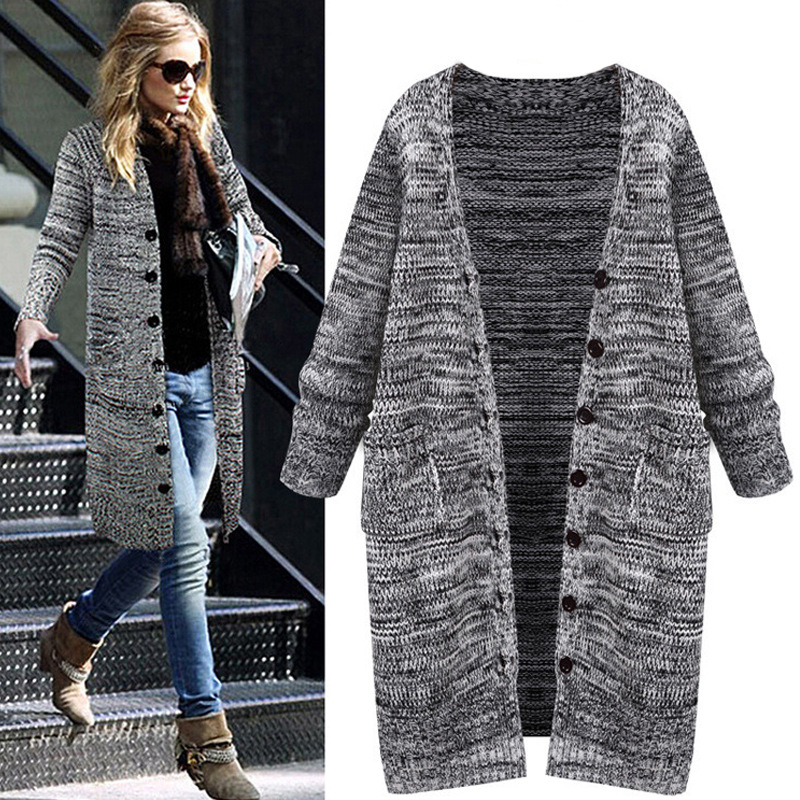 Women Autumn Sweater Femme Sleeve Casual Knitting Long Single Nice Vogue Fashion Pull Coats Loose Winter A New Top Breasted x8nW6qpg5Y
