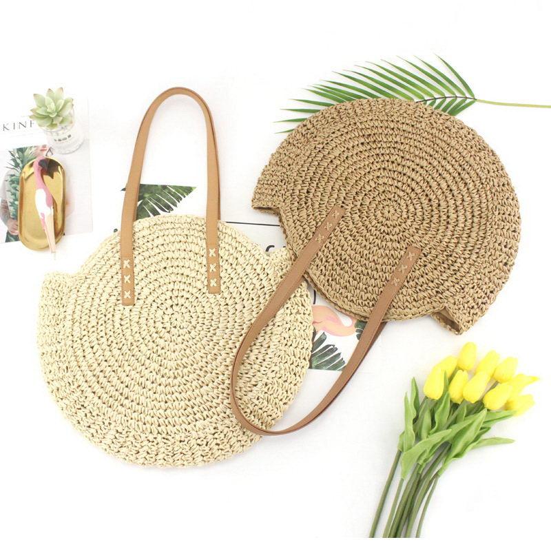 mulher bolsa boêmio verão palha praia saco
