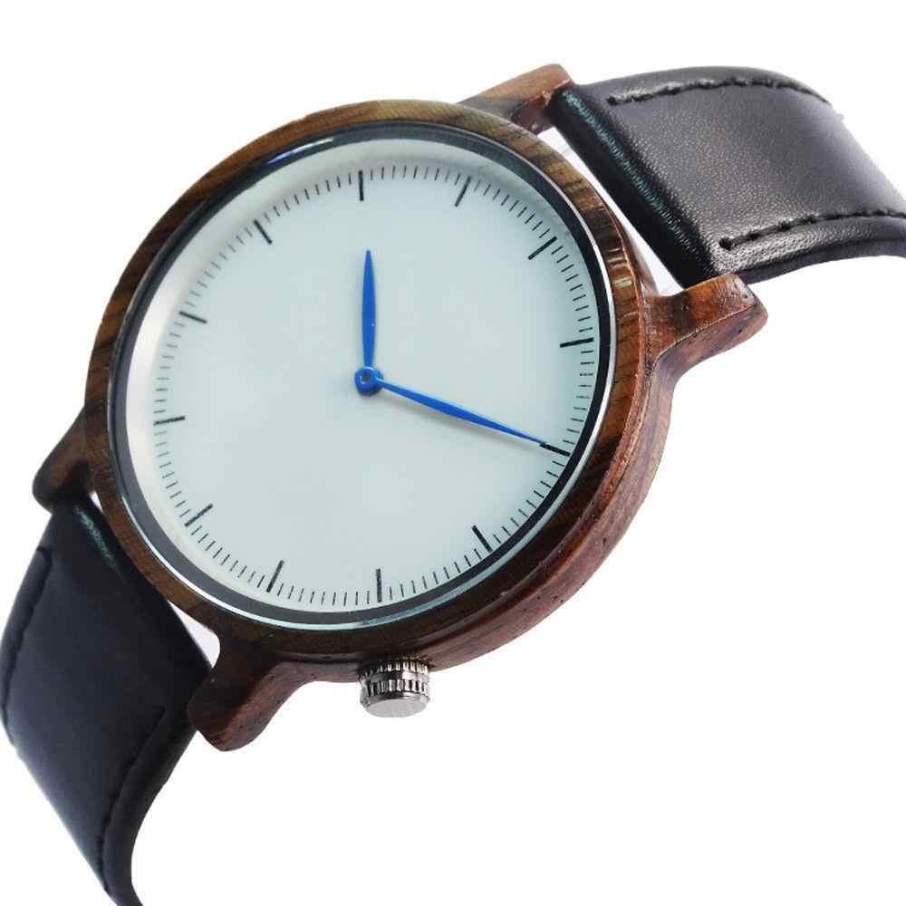 Montre-bracelet analogique Quarzt en bois de santal rouge pour hommes tenue décontractée montre-bracelet relojes hombre 2017