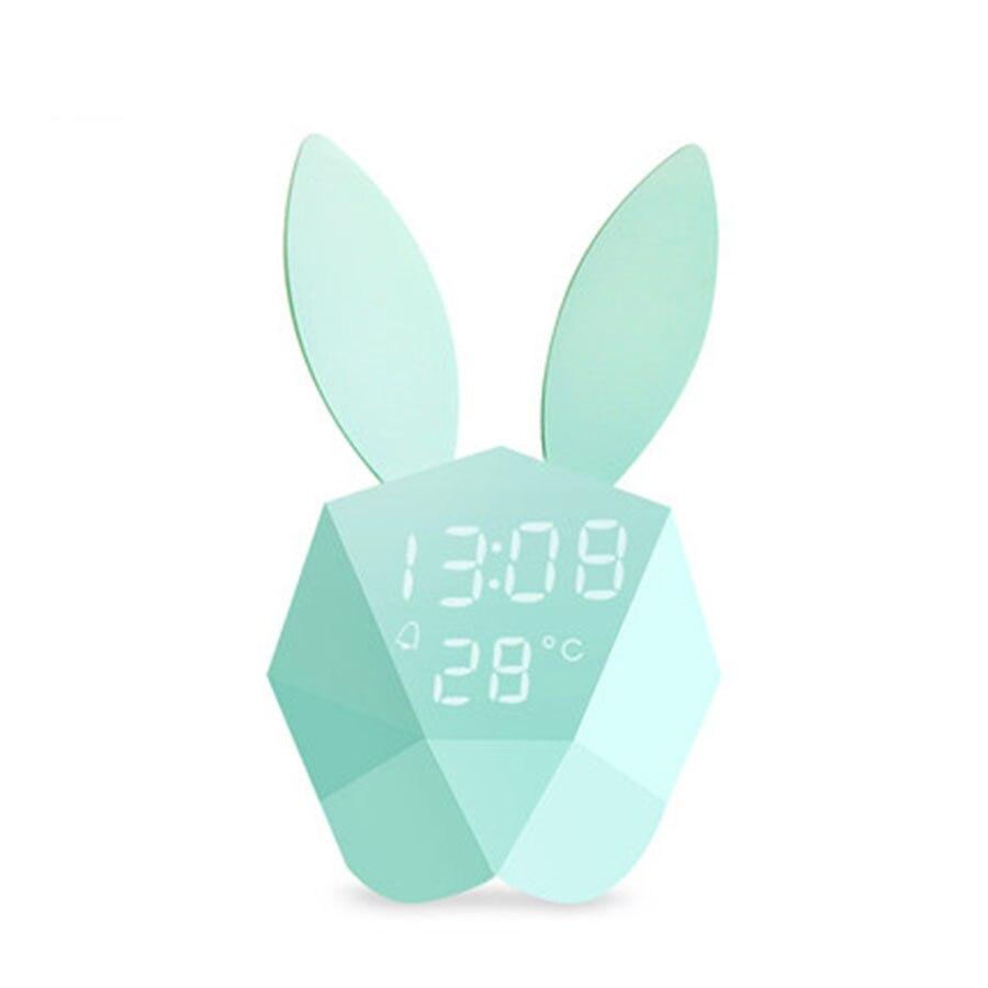Многофункциональный милый мультфильм Будильник световой электронный цифровой светодиодный Часы Температура Despertador настольные часы 50A