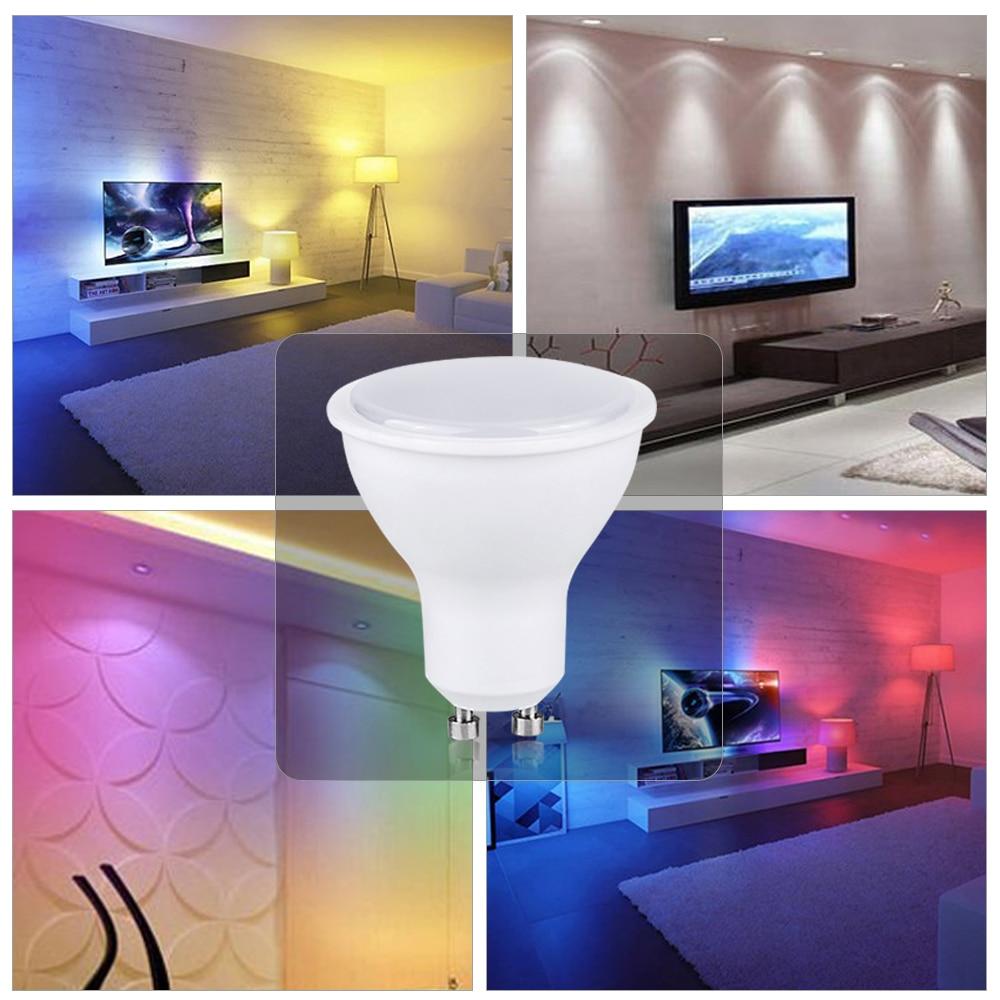 Image 5 - RGB LED הנורה אור E27 GU10 5 w 10 w 15 w Dimmable מנורת ססגוניות משתנה + IR שלט רחוק RGB Lampada מקורה תאורת מנורהנורות וצינורות LED   -