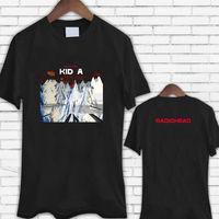 T Shirt Shop Crew Neck Short Sleeve Fashion 2018 Mens Radiohead Kid A Rock Band Black