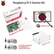 Sale Original Raspberry Pi 3 Model B+3.5″ LCD HDMI Touch Screen + 2 X USB Gamepads + Acrylic Case for Raspberry Pi 3