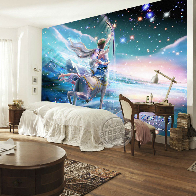 Buy sagittarius photo wallpaper charming for Mural art designs for bedroom