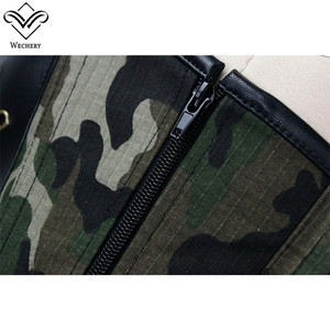 Image 5 - Wechery Army Green Corset Military Style Bustier Tops for Women Hollow Out Lace Up Corsets with Choker Camouflage Body Shapers