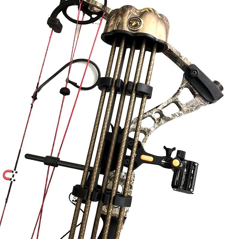 archery quiver 5 setas tubo arco composto titular da seta ao ar livre caca tiro acessorio