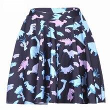 77bc700e16f68 1080 Summer Women Plus Size Pleated Mini Skater Skirt Sexy Girl Cheerleader  TuTu Skirt Jurassic Cartoon dinosaur Prints