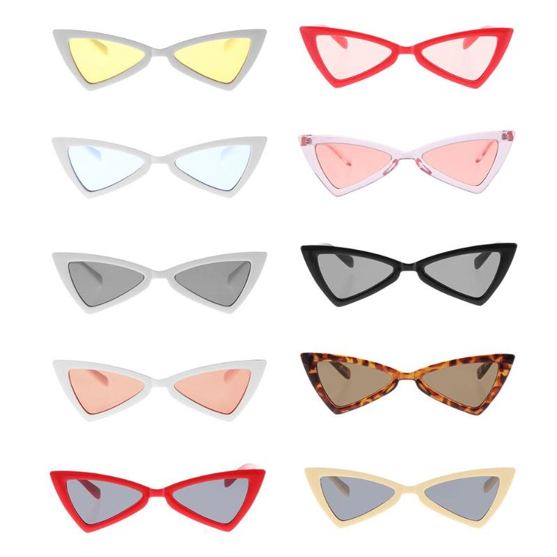 New Personalized Women Creative Eye Sunglasses Triangle Frame UV Sun Glasses Lenses for Female Fashion Vintage Travel Oculos