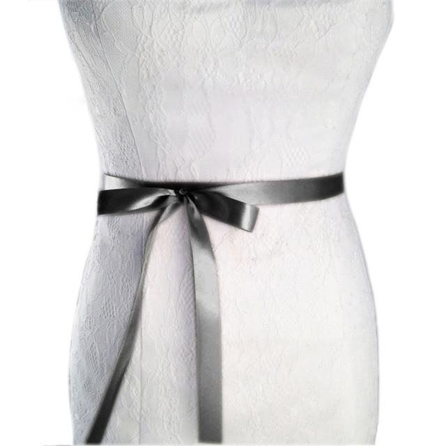 Womens Wedding Sash Elegant Rhinestone Satin Ribbon Bridal Belts Party Bride Bridesmaid Belt Dress Cummerbunds Waistband 3