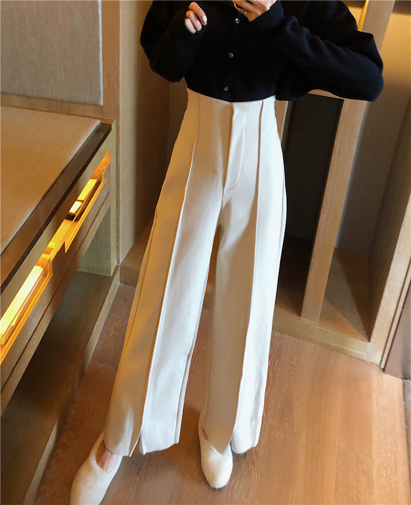 Women's Pants Elegant Style Plaid Pants for Women Autumn Casual Loose Elastic Waist Trousers Harajuku Female Ankle-Length ZT1954 10