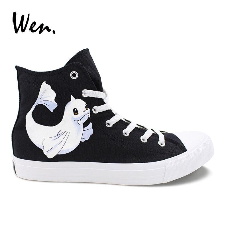 3ba5b1df9 Вэнь обувь без шнуровки черный, белый цвет 2 цвета оригинальный дизайн ...