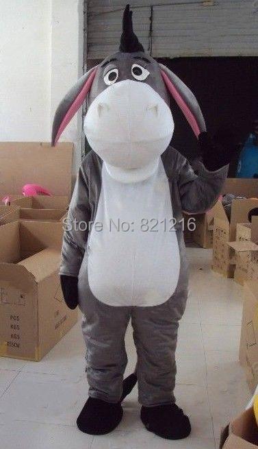 Christmas Costumes Cosplay Halloween Christmas Gray Eeyore Donkey Adult Mascot Costume For Festival