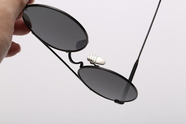 CALIFIT Ladies Pink Mirror Round Sunglasses