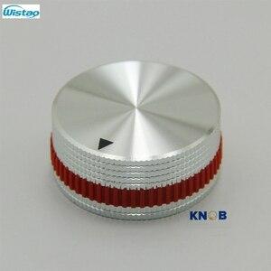 Image 4 - IWISTAO Katı Potansiyometre Topuzu Tüm Alüminyum HIFI Karıştırma Anahtarı Ses Çapı 40mm Yüksek 18mm Gümüş DIY Ücretsiz kargo