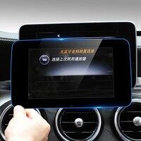Console de voiture GPS Navigation NBT Écran Protection Garniture Panneau De Couverture Autocollants Accessoires Pour Mercedes Benz classe C W205 GLC GLA
