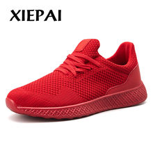 2019 Breathable Men Brand Sneakers Casual Shoes Solid Color Man Fashion Lace-up Shoes Autumn Winter Footwear Plus Big Size 39-48(China)