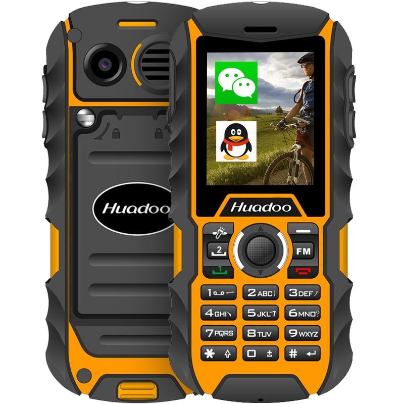 HUADOO H1 2.0 inch IP68 עמיד למים עמיד הלם מכסה נגד אבק חיצוני טלפון נייד זקן בכיר FM פנס טלפון נייד מוקשח