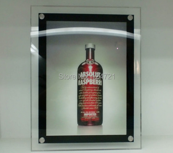 цена на Acrylic led light box a3/wall mounted led advertising board snap frame crystal lightbox free shipping