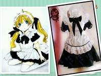 Hot Anime Maid Dress Party Lolita Black White Dress Cosplay Costume Maid Sama Kaichou Wa Maid