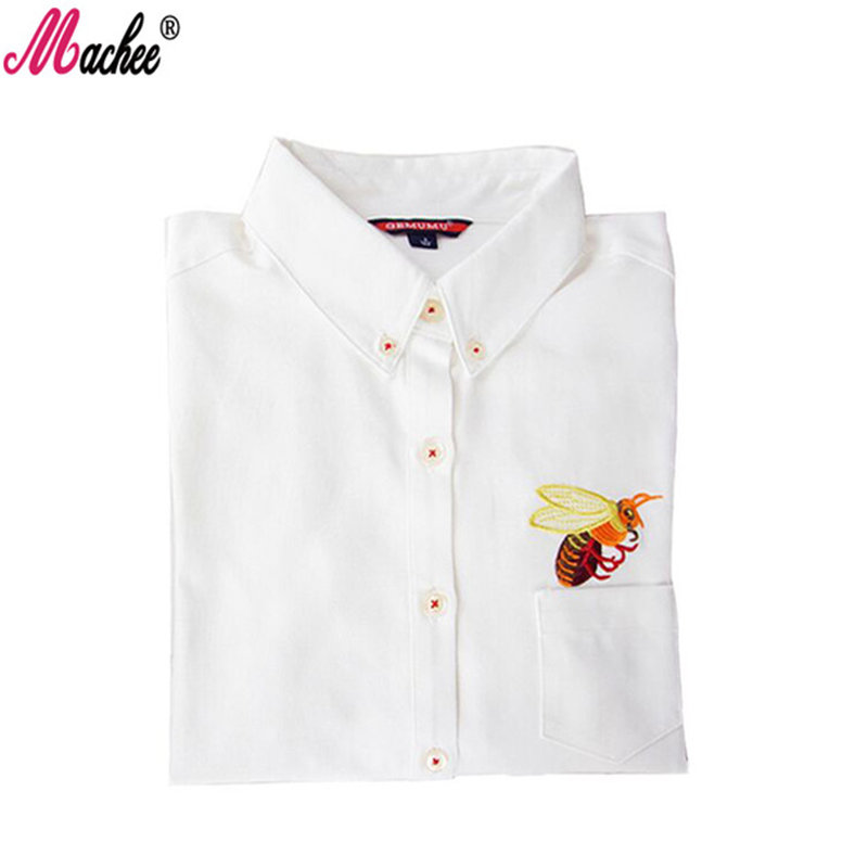 Fall top women clothes autumn blouse cat bee