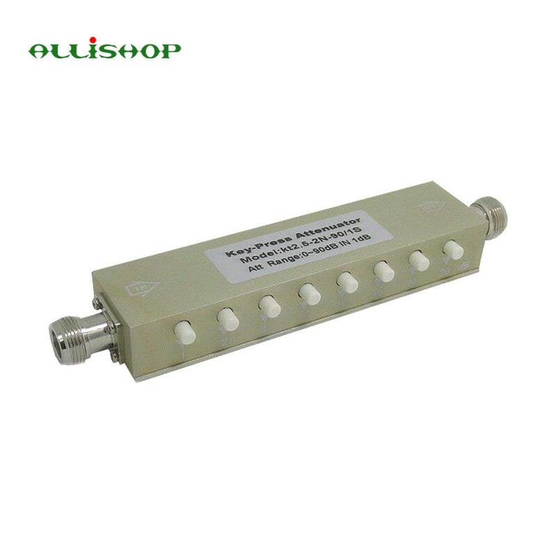 ALLiSHOP New Adjustable Variable Attenuator N 5W 0-90dBi DC-2.5GHZ 50ohm RF Coaxial 8-key цена
