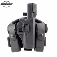 Right Hand Tactical Airsoft Gun Holster Military Hunting Leg Holster for Glock 17 19 22 23 31 32