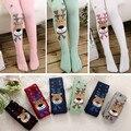 2015 ropa de la navidad niñas leotardos wapiti algodón medias de los niños niñas pantyhose los niños calientes del invierno de medias 2-7Y