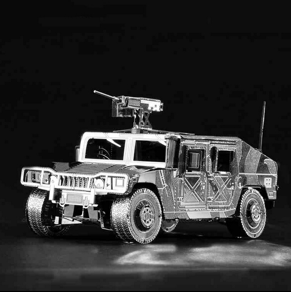 3d puzzle anti aircraft truck diy build metal kids toys 3d models puzzle building model
