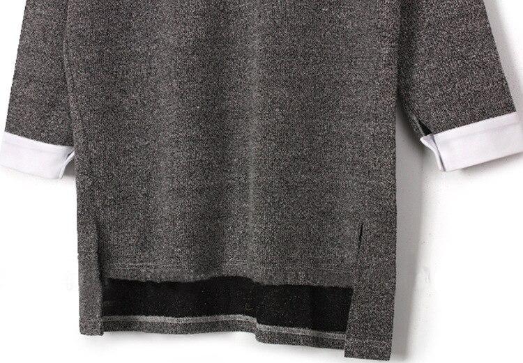 split large size sweaters women 6XL asymmetrical long sleeve 2017 - Women's Clothing - Photo 3