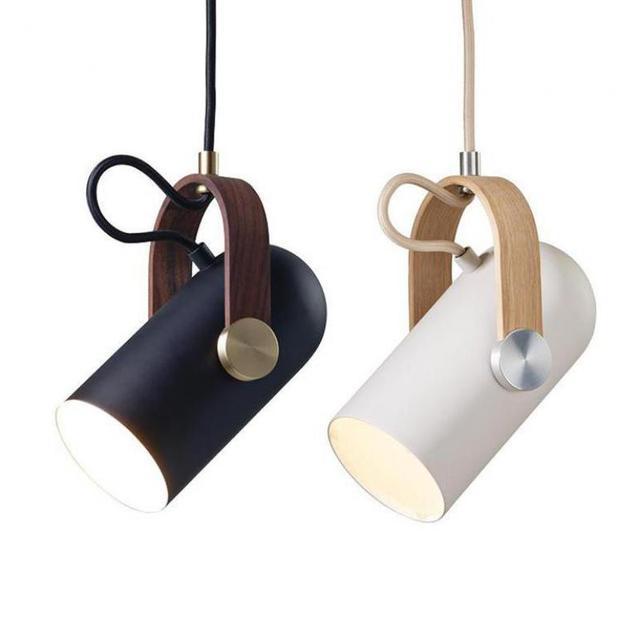 Exhibition Room 1 Pcs Led Pendant Lights  showcase metal Spotlight For Art Salon Bedroom Wooden Pendant Lamp Bar Cafe Lighting