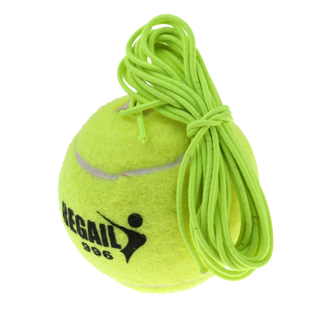 1 Pcs Professional 2.5inch Green Tennis Ball And String Replacement For Tennis Trainer Indoor Practice Training