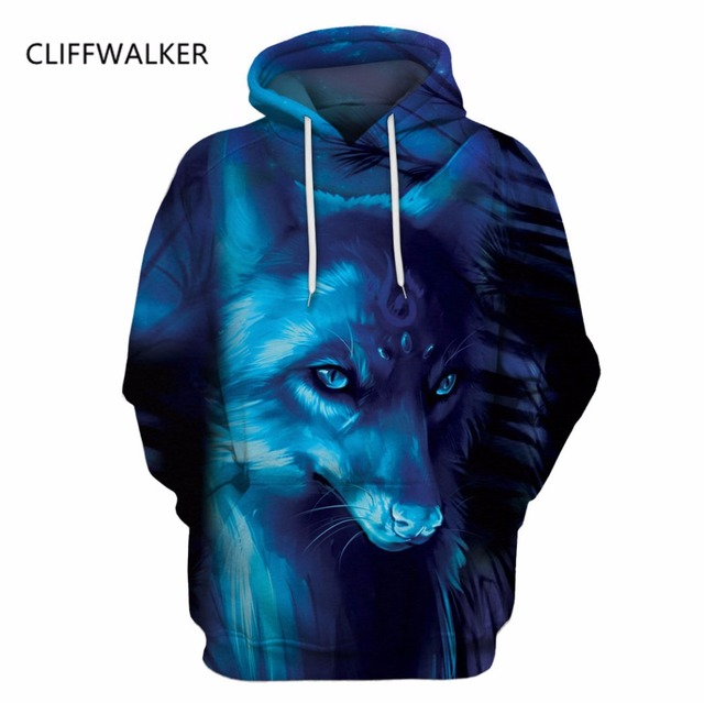 b5a7a15119 Dropshipping New Galaxy Space Blue Wolf Hoodies Printed 3D For Women Men  Sweatshirts Long Sleeve Jackets Hooded Thin Pullover