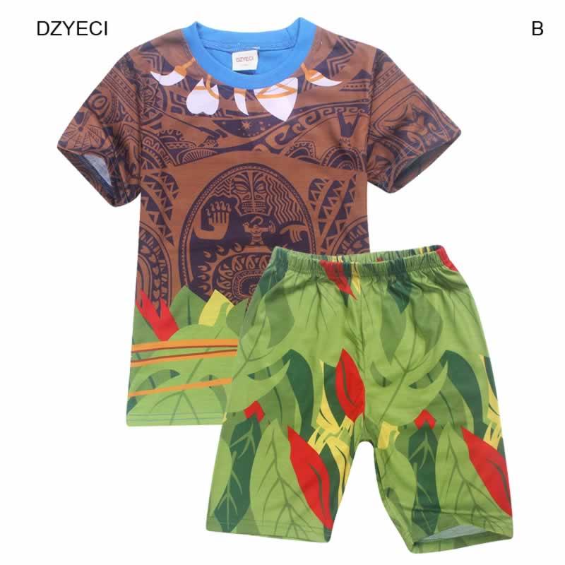 49944383c DZYECI Maui Costume For Baby Boy Set Clothes Moana Vaiana Cosplay ...