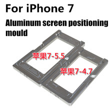1pcs Glass screen mold mould for iphone 7 7 plus Aluminum screen positioning fixture repair tools parts