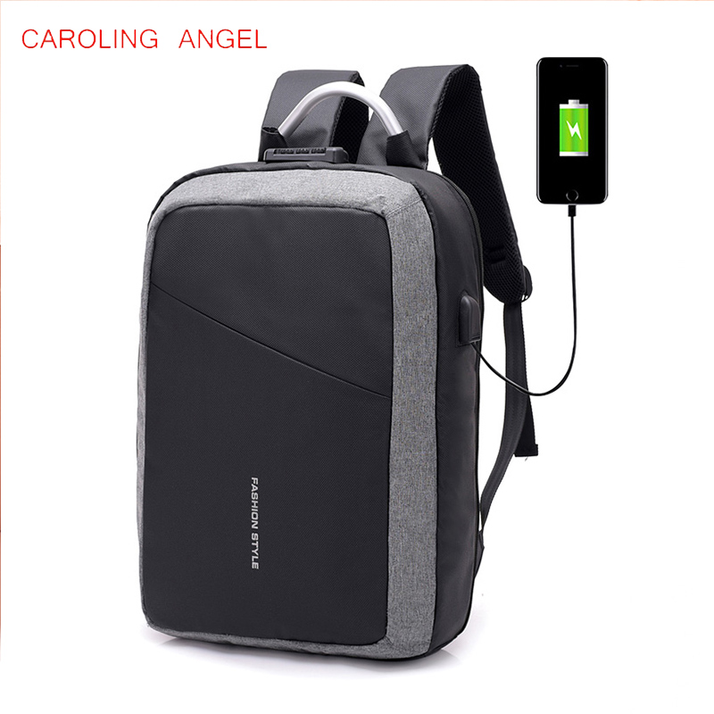 USB Charge Anti Theft Backpack for Men 15 inch Laptop Mens Backpacks Fashion Travel duffel School Bags Bagpack sac a dos mochila new design secure lock backpack external usb charge school bags for teenager for girls mochila escolar back pack men sac a dos