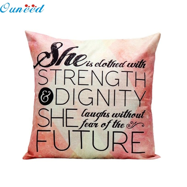 Homey Design New Fashion Inspirational Words Pillow Case Waist Throw - Inspirational words for new home
