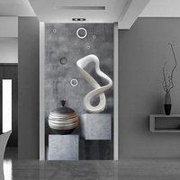 Özel HD 3D Fotoğraf Duvar Resimleri Duvar Kağıdı Modern Yaratıcı Boyama 3D Oturma Odası Girişinde Banyo Kapı Koridor arka plan Duvar Kağıdı
