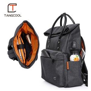 Image 5 - מגניב tangcool משולב USB טעינה גברים 15 אינץ מחשב נייד תרמילי נער המוצ ילה פנאי נסיעות אופנה זכר תרמיל