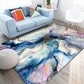 Абстрактные ковры и коврики для гостиной  скандинавские цветные геометрические узоры  противоскользящие чайные коврики для детской комнат...