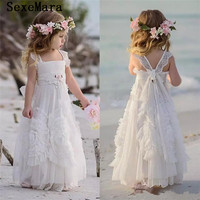 Dollcake Flower Girl Dresses Special Occasion For Weddings Ruffled Kids Pageant Gowns Flowers Floor Length Lace Communion Gown