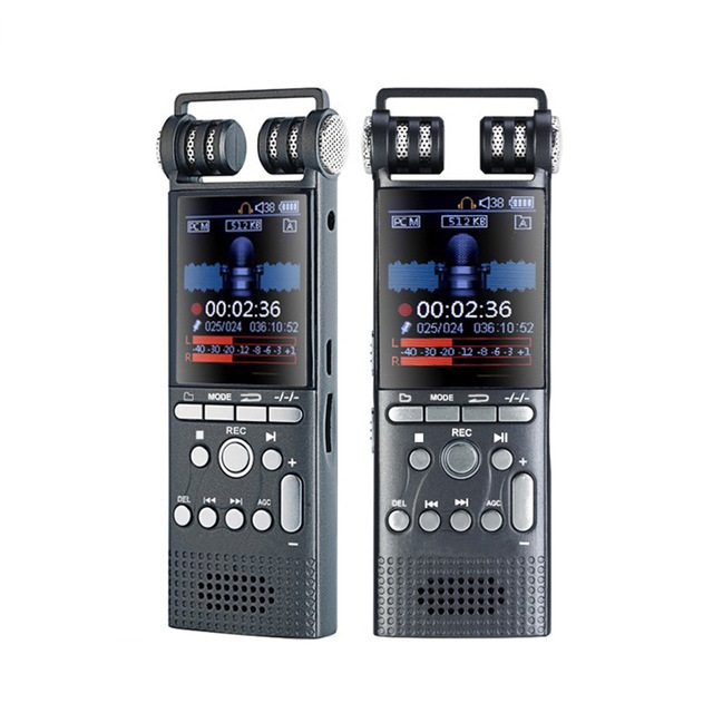 8GB/16GB Professional Voice Activated Digital Audio Voice Recorder USB Pen Non-Stop 100hr Recording PCM 1536Kbps,Support TF-Card high bit rate 1536kbps audio recorder 60m voice recorder 8g time stamp voice activated password digital recorder ape flac player