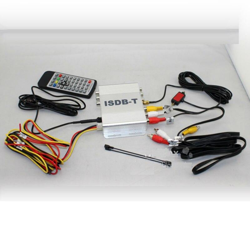 Tuner de ISDB-T de boîte de récepteur de TV numérique de MPEG-4 de voiture pour le japon brésil amérique du sud