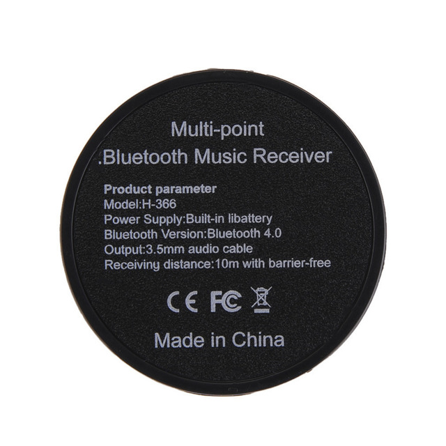 Universal Mini Audio Bluetooth Music Receiver Adapter Hands free Car kit 3.5 mm AUX Reciever connecte to two Bluetooth devices