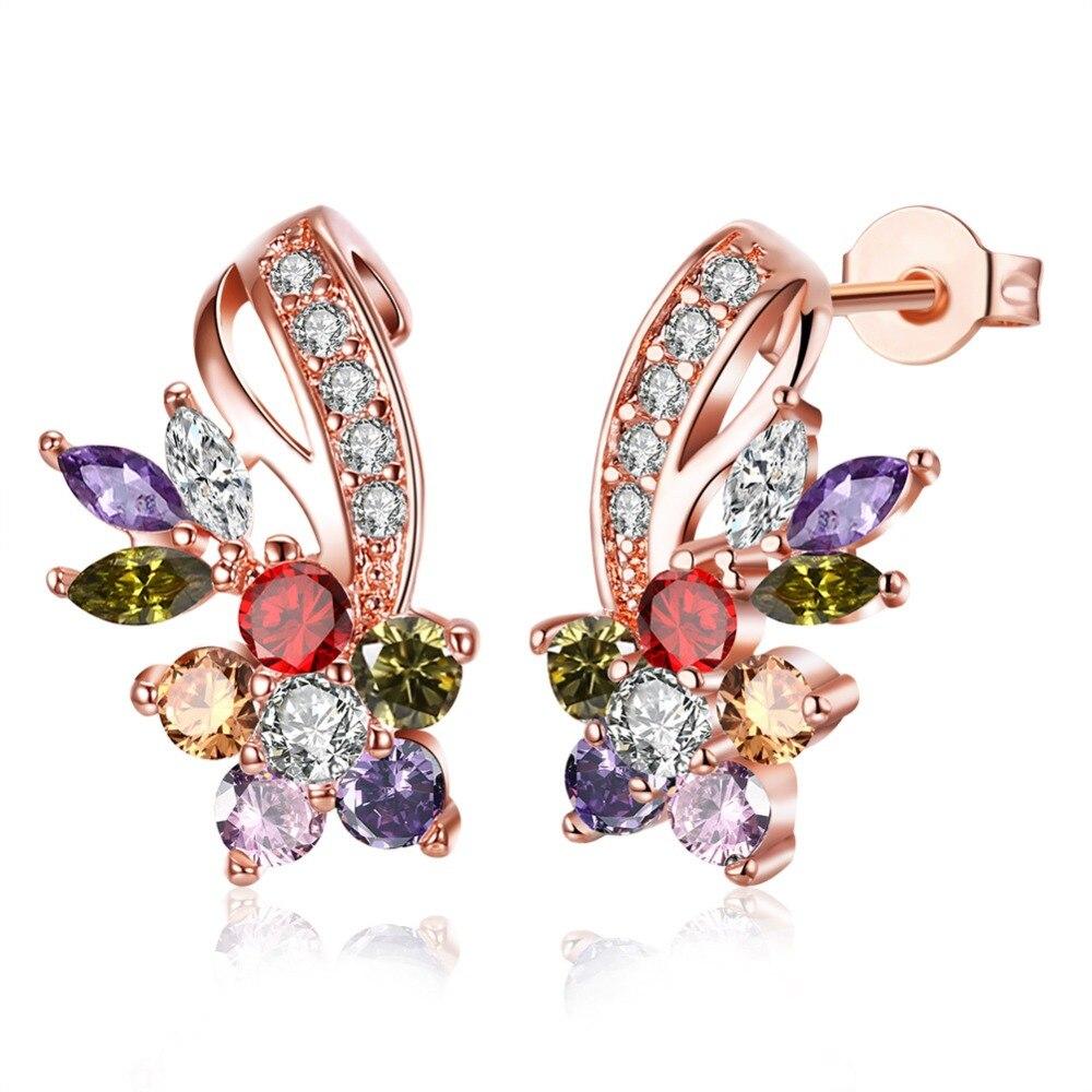 NEW earrings Europe Dark blue Crystals from Swarovski Earring