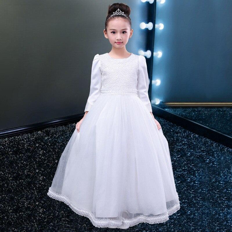 Formal Mädchen Hochzeit Kleid Partei Blume Geraffte Brautjungfer ...