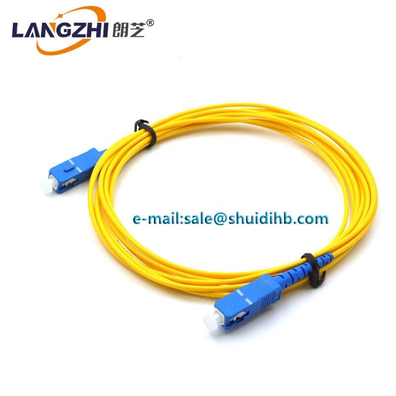 SC 10PCS/bag SC UPC 3M Simplex mode fiber optic patch cord SC UPC 3M 2.0mm or 3.0mm FTTH fiber optic jumper cable